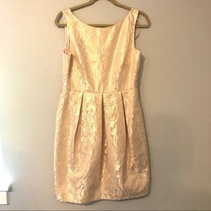 Eliza J pink and gold patterned dress size 8
